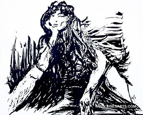 LA NONCHALANCE 1993 / 60 x 40 / Acrylique sur feuille d'acrylique / Collection privée