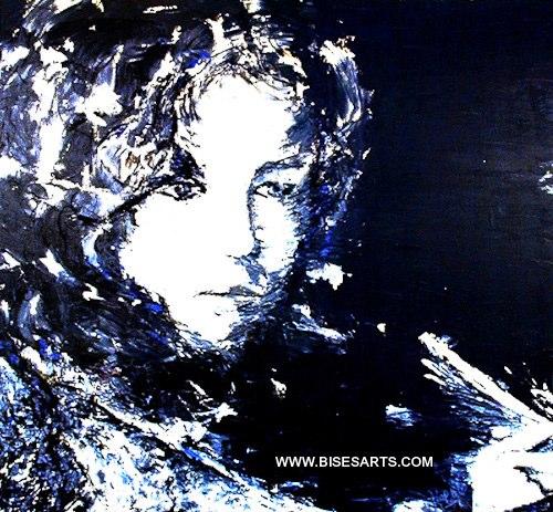 """SONGE 1985 / 38"""" X 34"""" / Acrylique sur toile"""