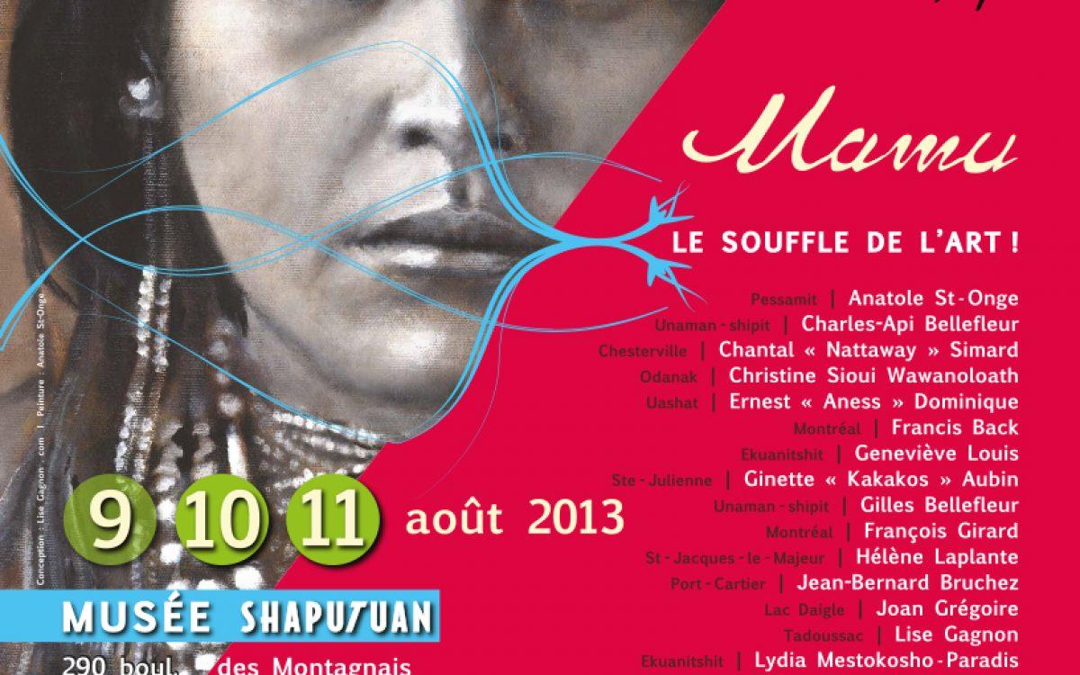 Exposition / Création graphique / Symposium Mamu, LE SOUFFLE DE L'ART ! 2013