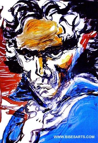 """Beethoveen, 1991/ 52"""" x 46"""" Acrylique sur feuille d'acrylique / Collection privée"""