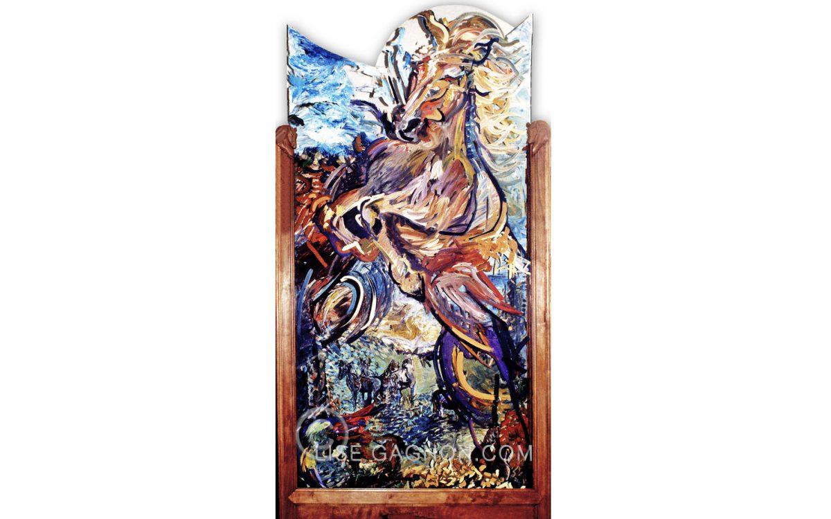 """Mon Étalon 1995 / 48"""" x 96"""" x 8"""" / Acrylique sur plexiglass / Collection privée"""